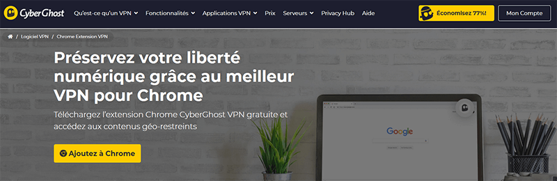 VPN Google Chrome CyberGhost