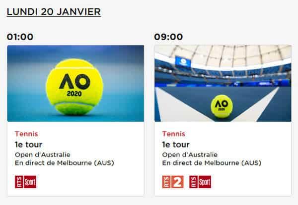 Programme RTS Open Australie