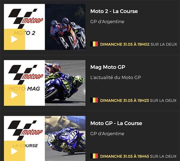 GP Argentine MotoGP programme
