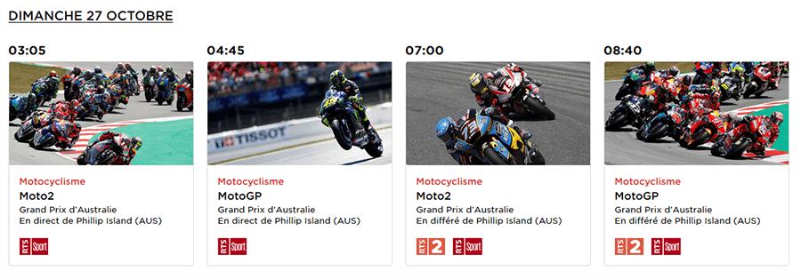 MotoGP Australie RTS