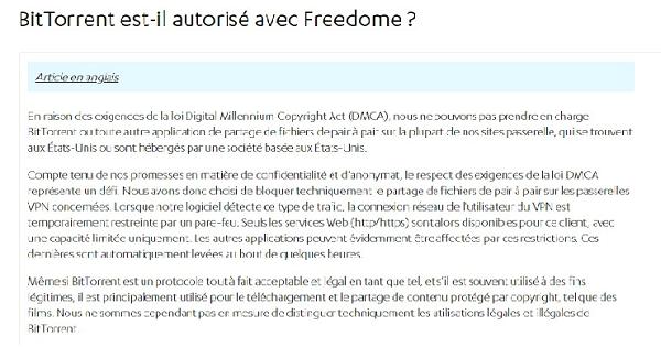 BitTorrent Freedome
