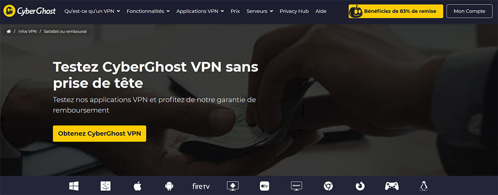 Essai gratuit CyberGhost