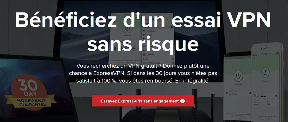 Essai gratuit ExpressVPN