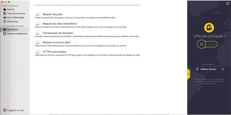 Fonctionnalités-CyberGhost