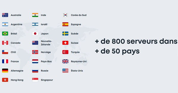 pays couverts par surfshark