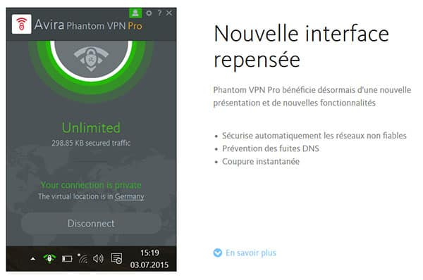 Application Avira Phantom VPN