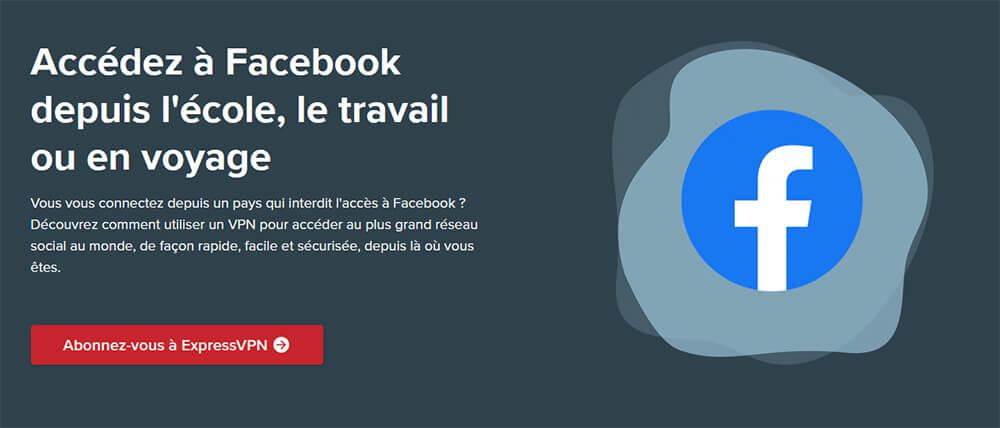 Débloquer Facebook ExpressVPN