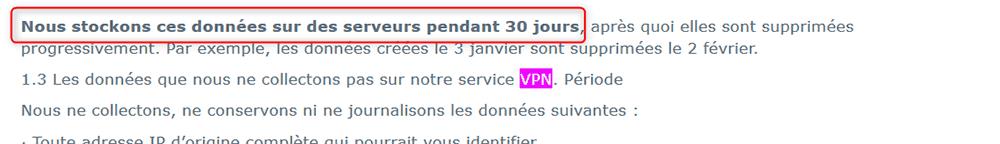 AVG Sikker lagring av VPN-logger