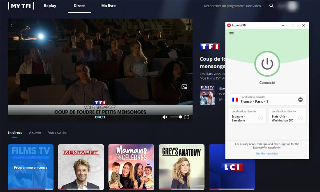 Déblocage TF1 étranger ExpressVPN