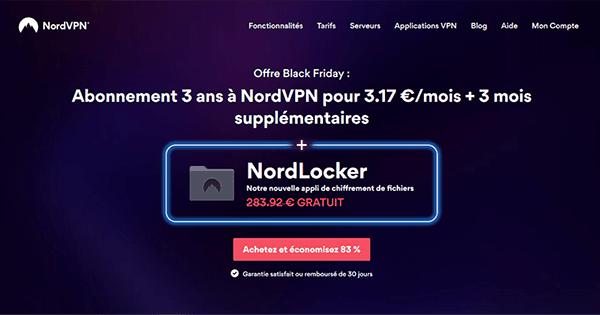 Promotion Black Friday de NordVPN