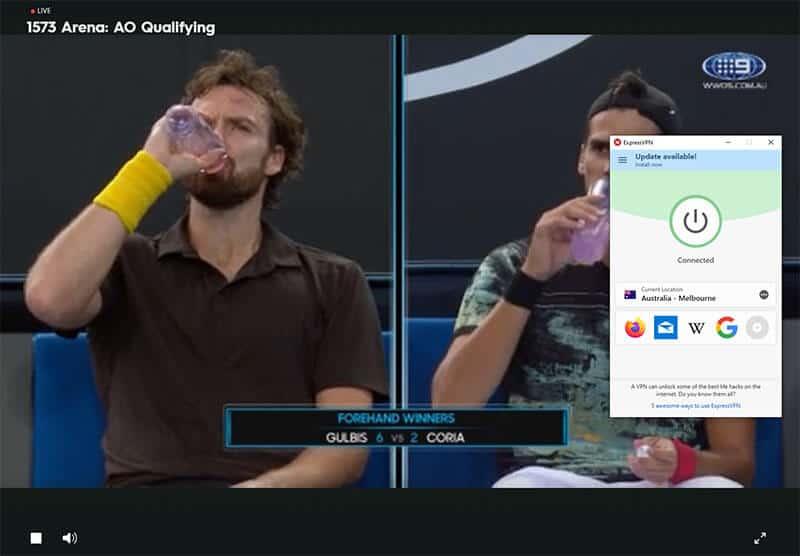 Channel 9 Open d'Australie