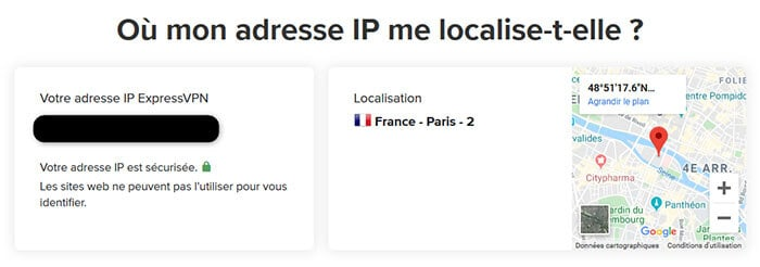 Localisation adresse IP