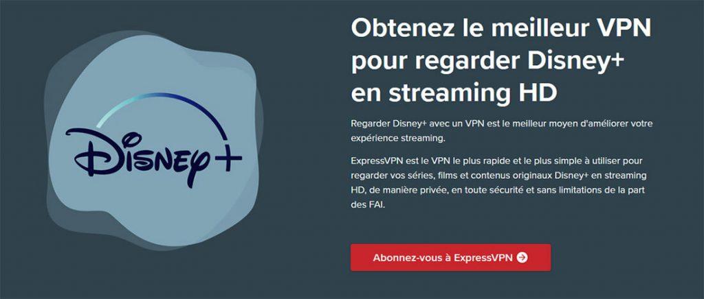 Déblocage Disney+ ExpressVPN