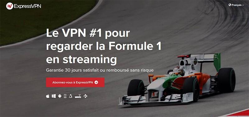 ExpressVPN Formule 1