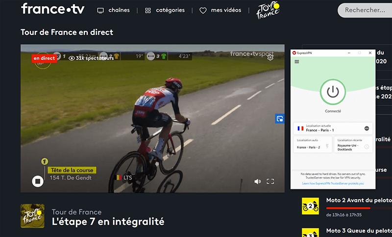 Regarder le Tour de France France TV