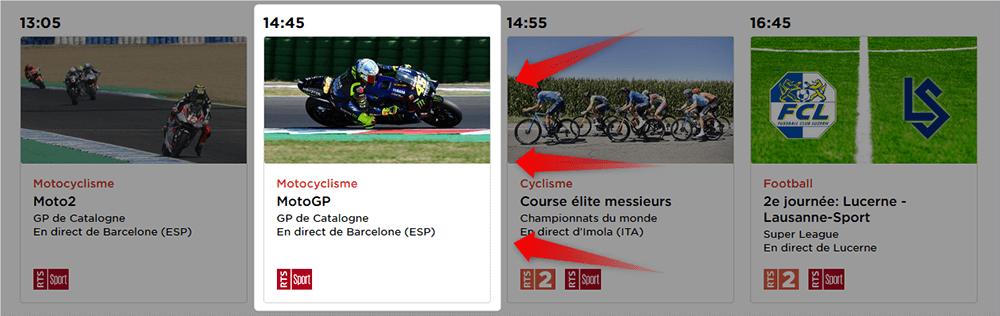 Programme RTS GP Catalogne MotoGP