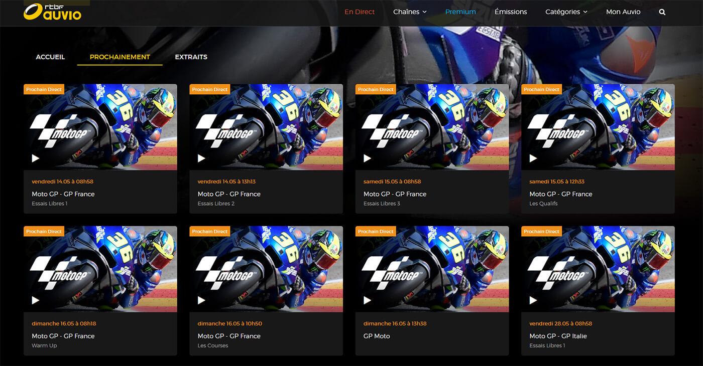 Programme TV Chaine Gratuite RTBF MotoGP GP France