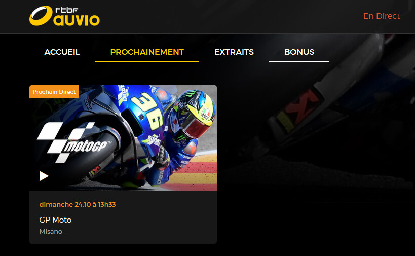 Programme TV RTBF GP MotoGP Misano