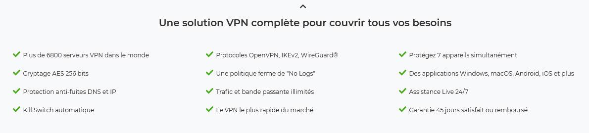 Avantages CyberGhost VPN