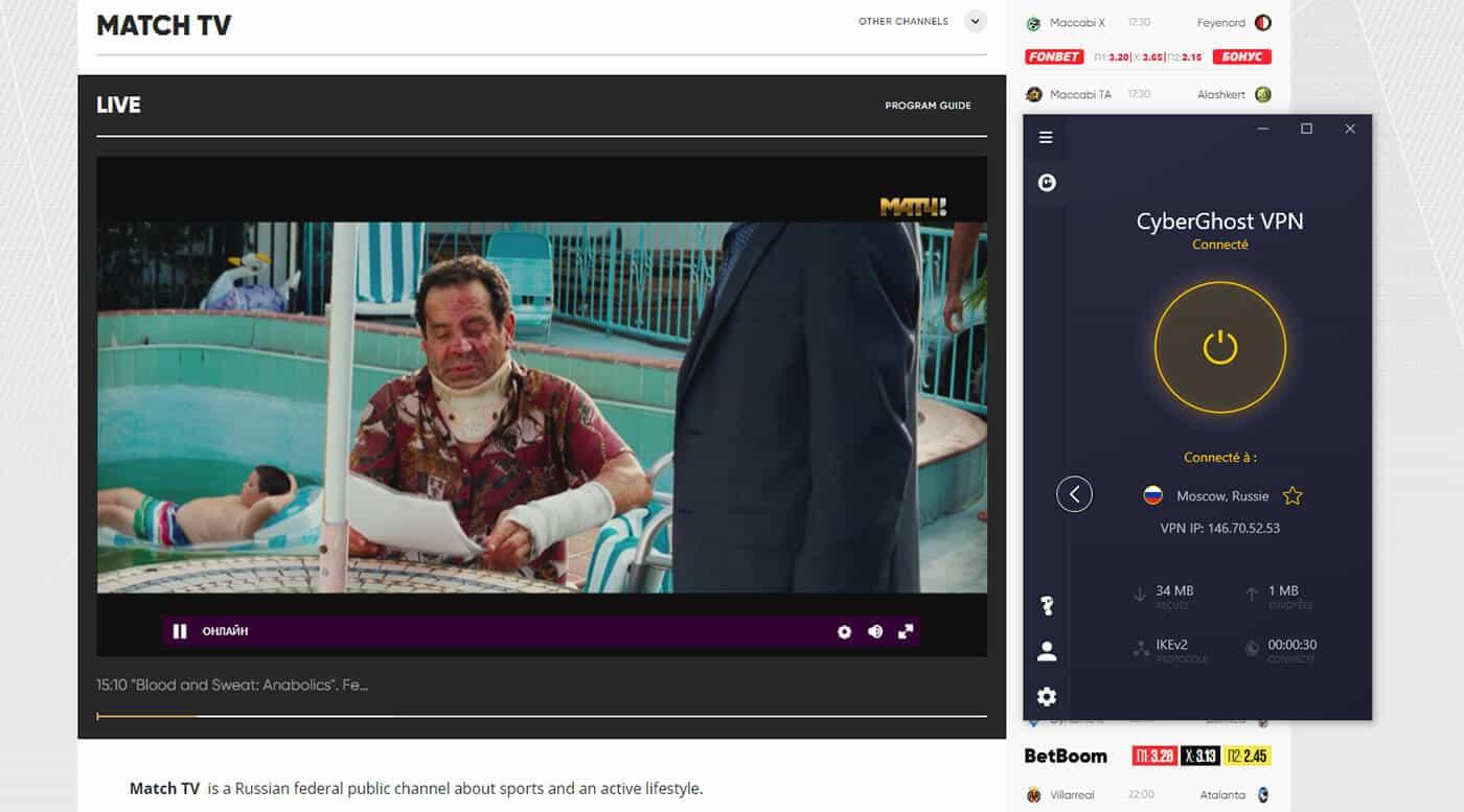 Déblocage Match TV direct