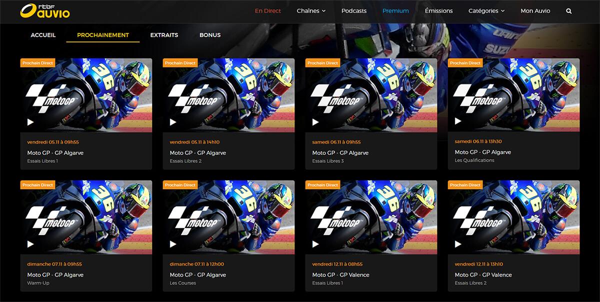 Programme TV MotoGP GP Algarve